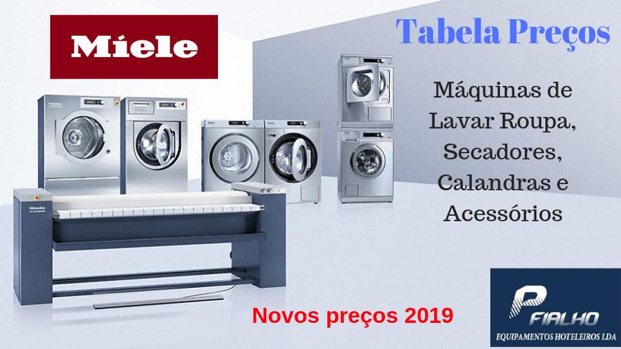 Nova Tabela Preços Miele 2019