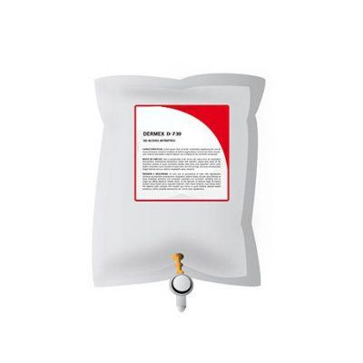 gel desinfectante alcool dermex d-730 regargas 900ml